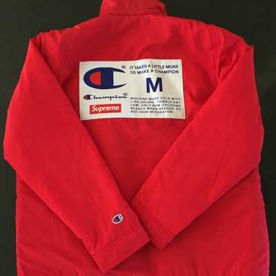 Supreme X Champion Coaches Jacket Red