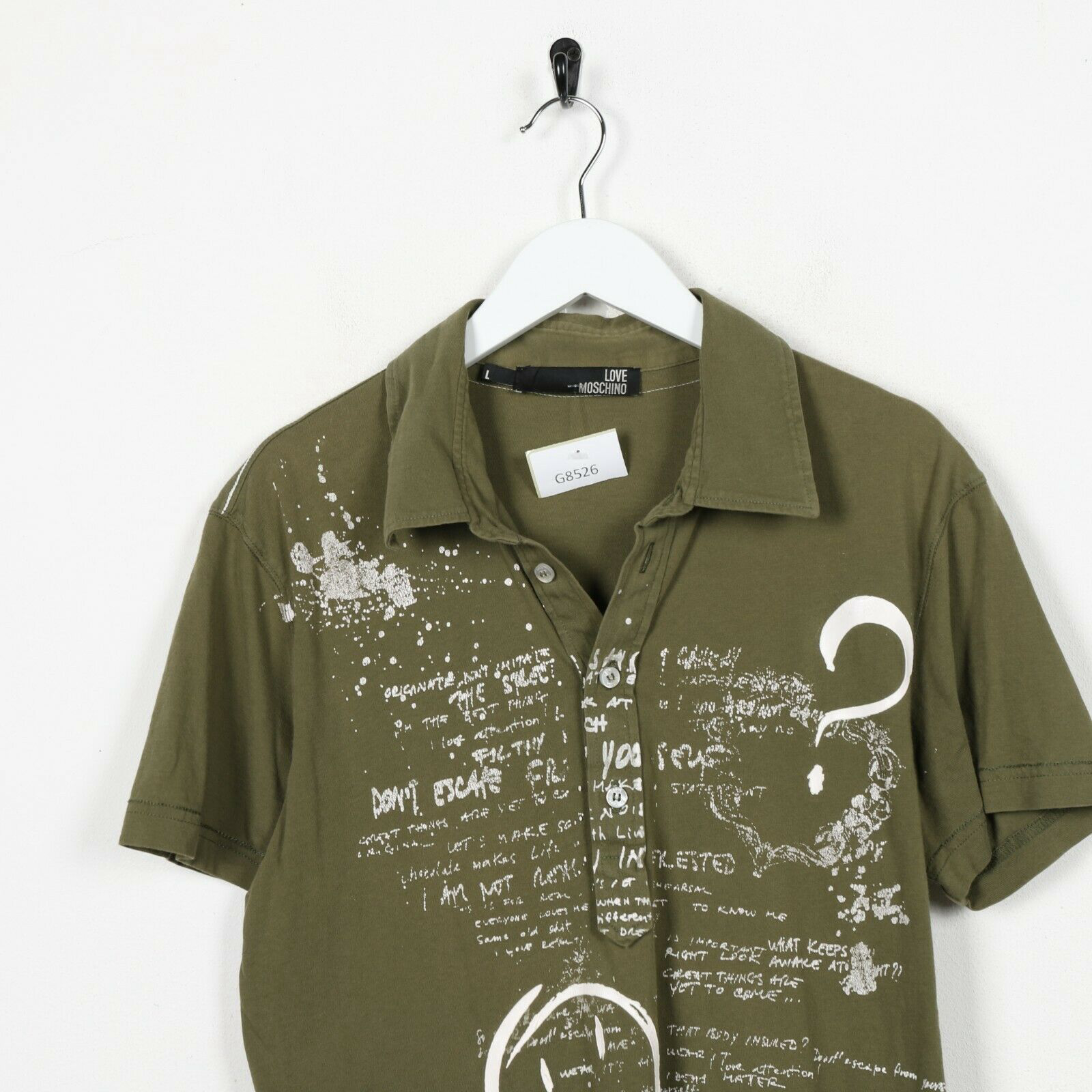 Vintage Shirt  Retro Shirt  Vintage Polo Gold Graphic Tee  Vintage Collared Top  Green Pink  Large L