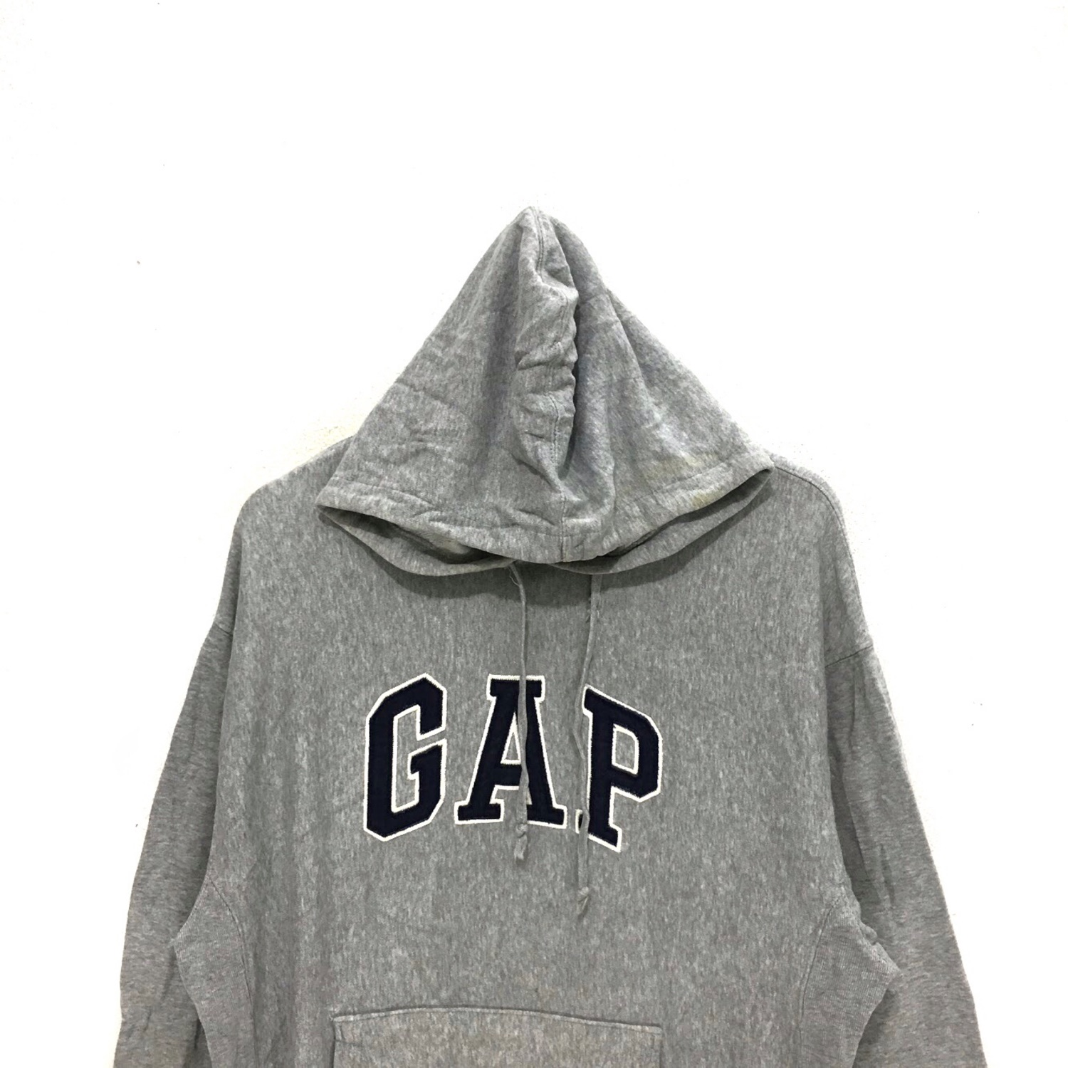 Vintage Gray Gap Usa Hoodie Pullover Sweater