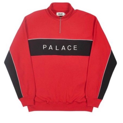 Palace Quart 1/4 Zip Funnel Jumper Red Black *Rare