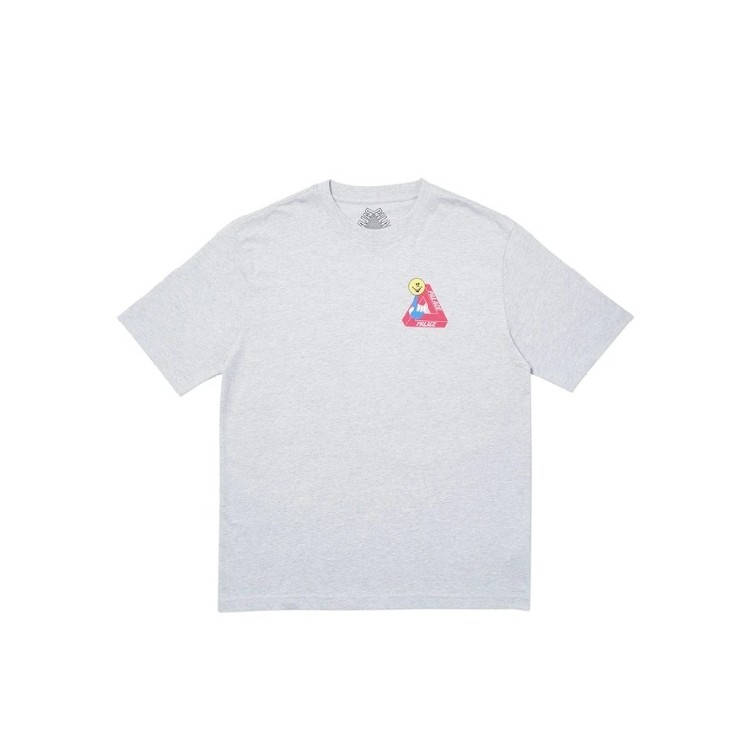Palace Tri-Smiler T-Shirt Grey Marl