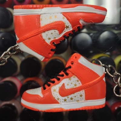 2003 Nike Dunk Sb High Supreme Orange 3D Keychain