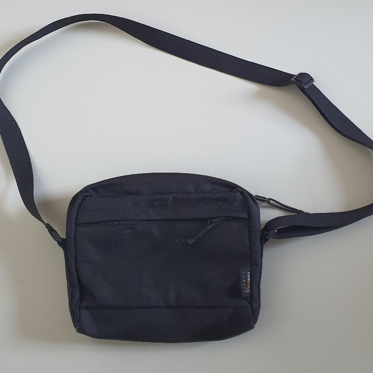 SS19 Supreme black shoulder bag cordura Fabric