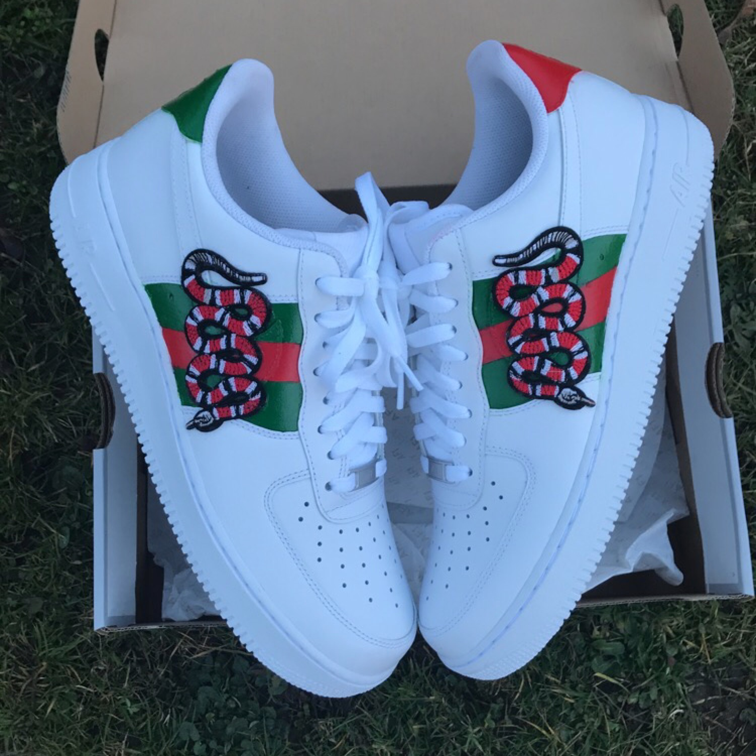 Custom Air Force 1 Gucci Snake