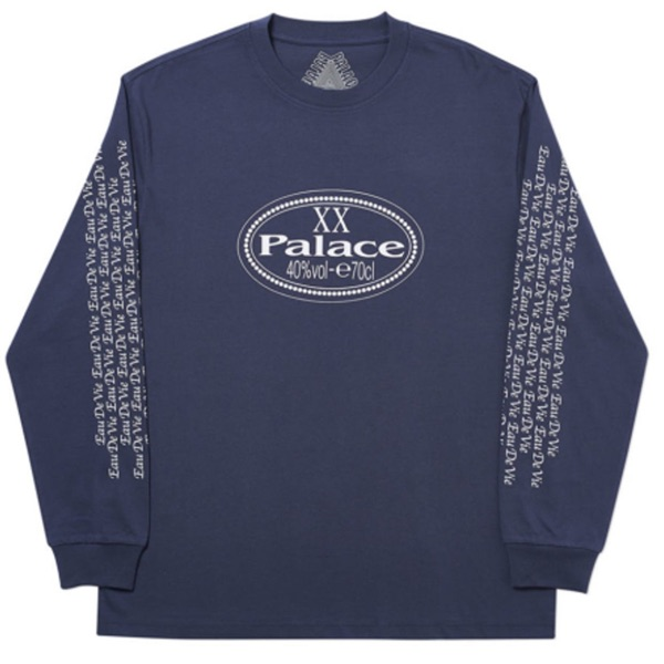 Palace Remy Long Sleeve T Shirt In Navy X-Large