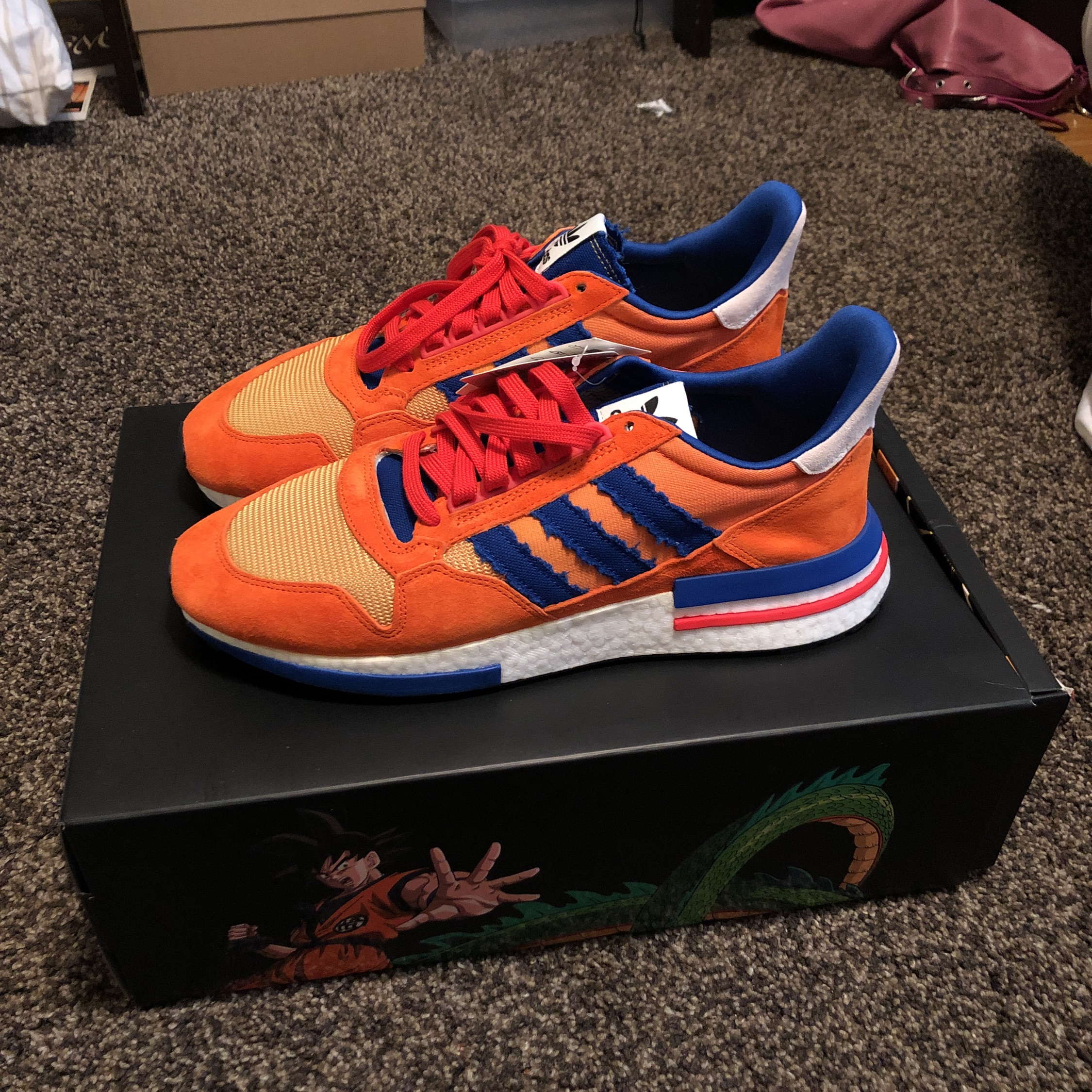 "new arrivals 0752f 9e3ee Adidas Zx 500 X Dragon Ball Z ""Son Goku"""