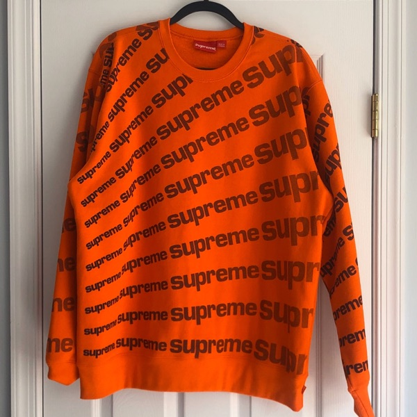 Supreme Radial Crewneck Orange