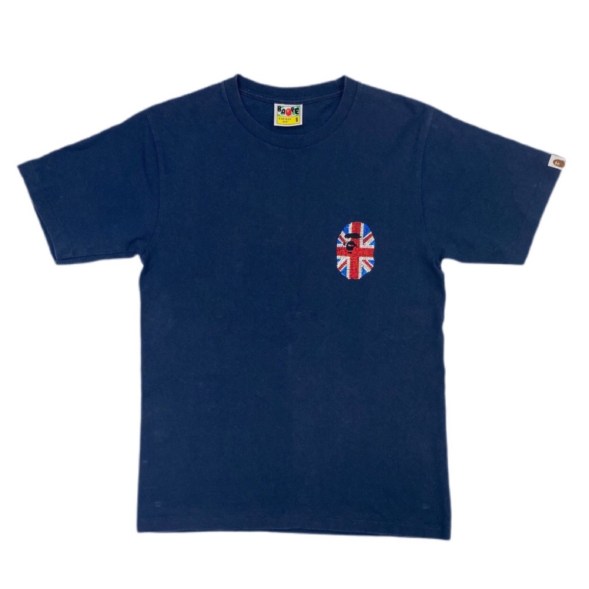 Bape Great Britain Swarovski tee