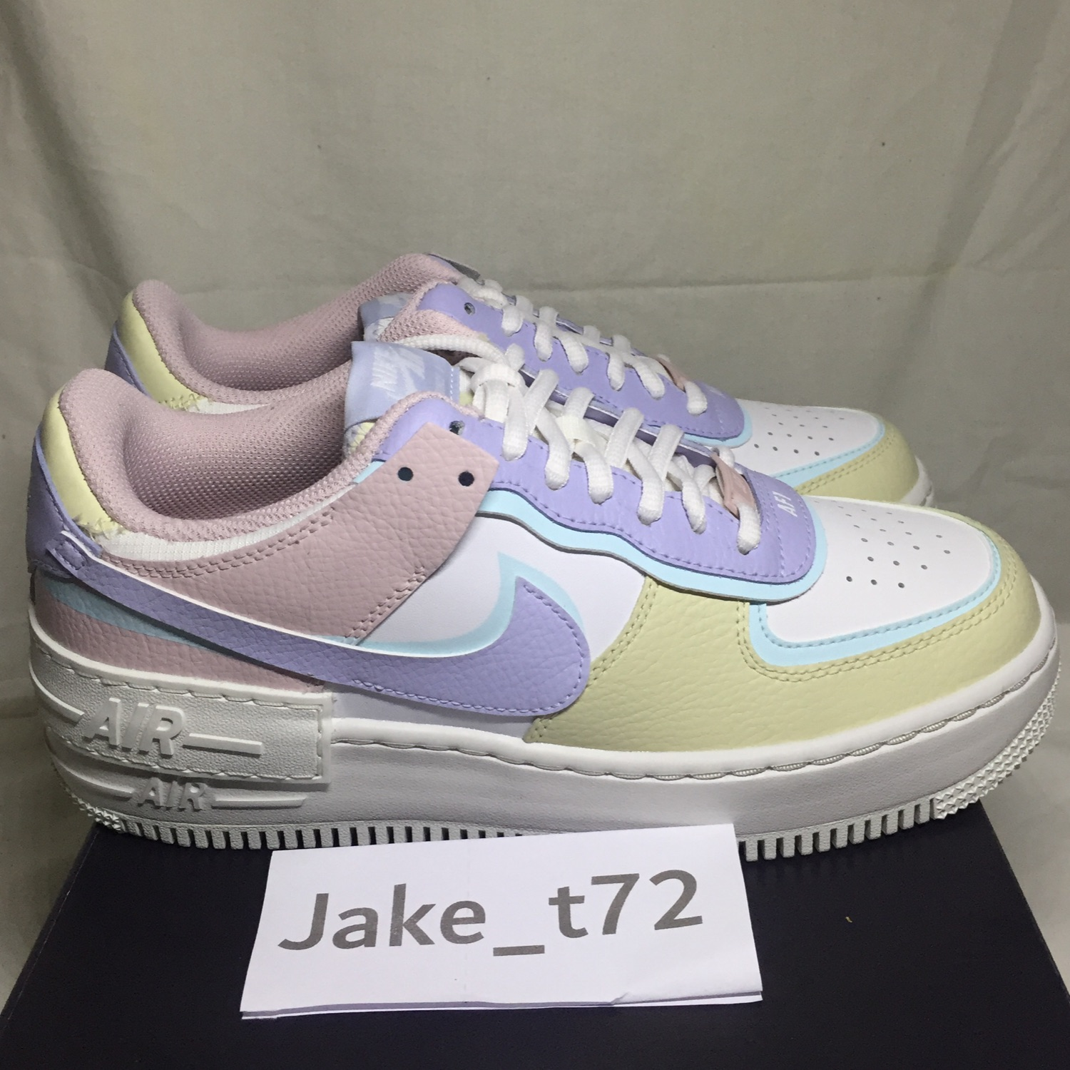 Nike Air Force 1 Shadow White Glacier Blue Ghost