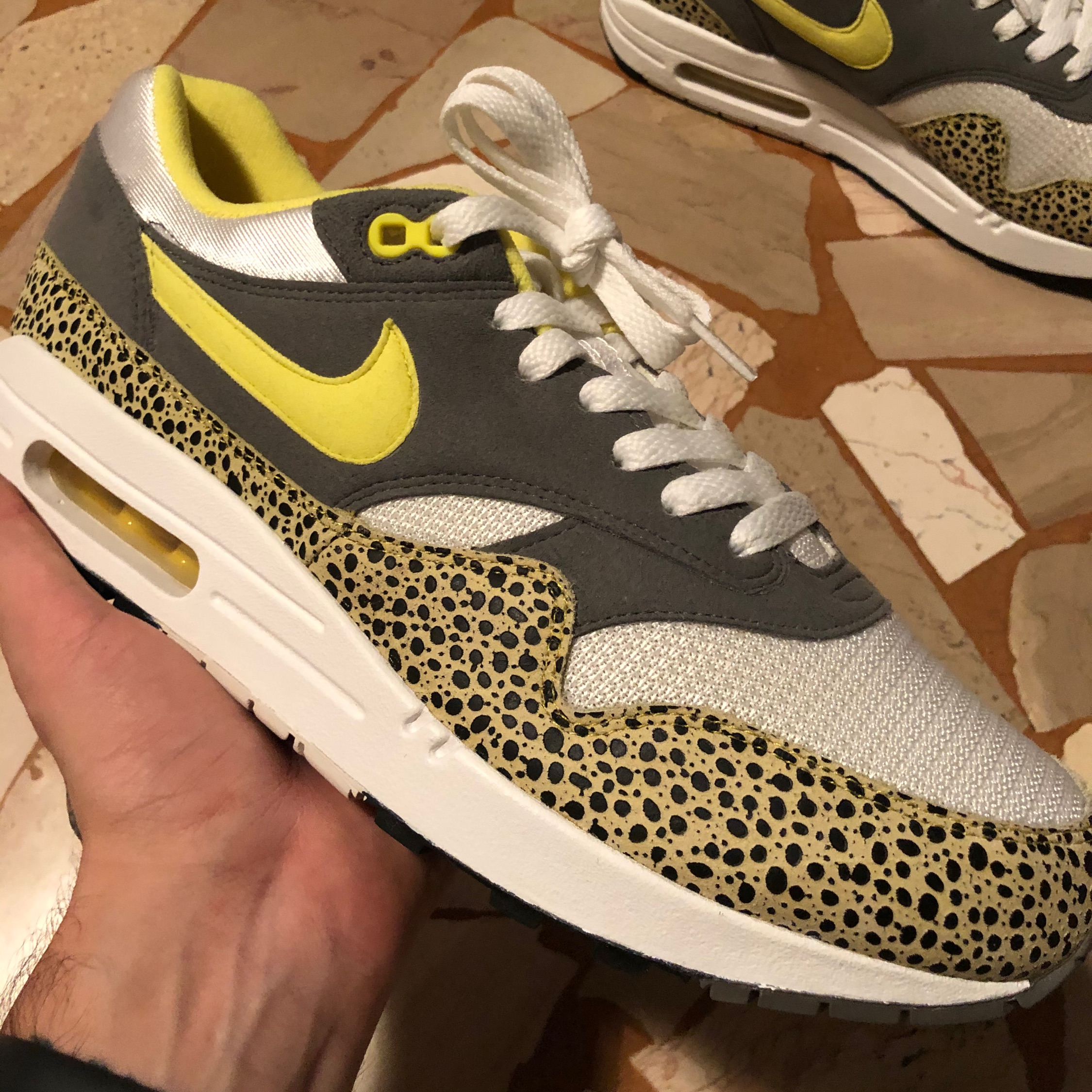 Minimizar Preludio Manga  Nike Air Max 1 Safari Yellow