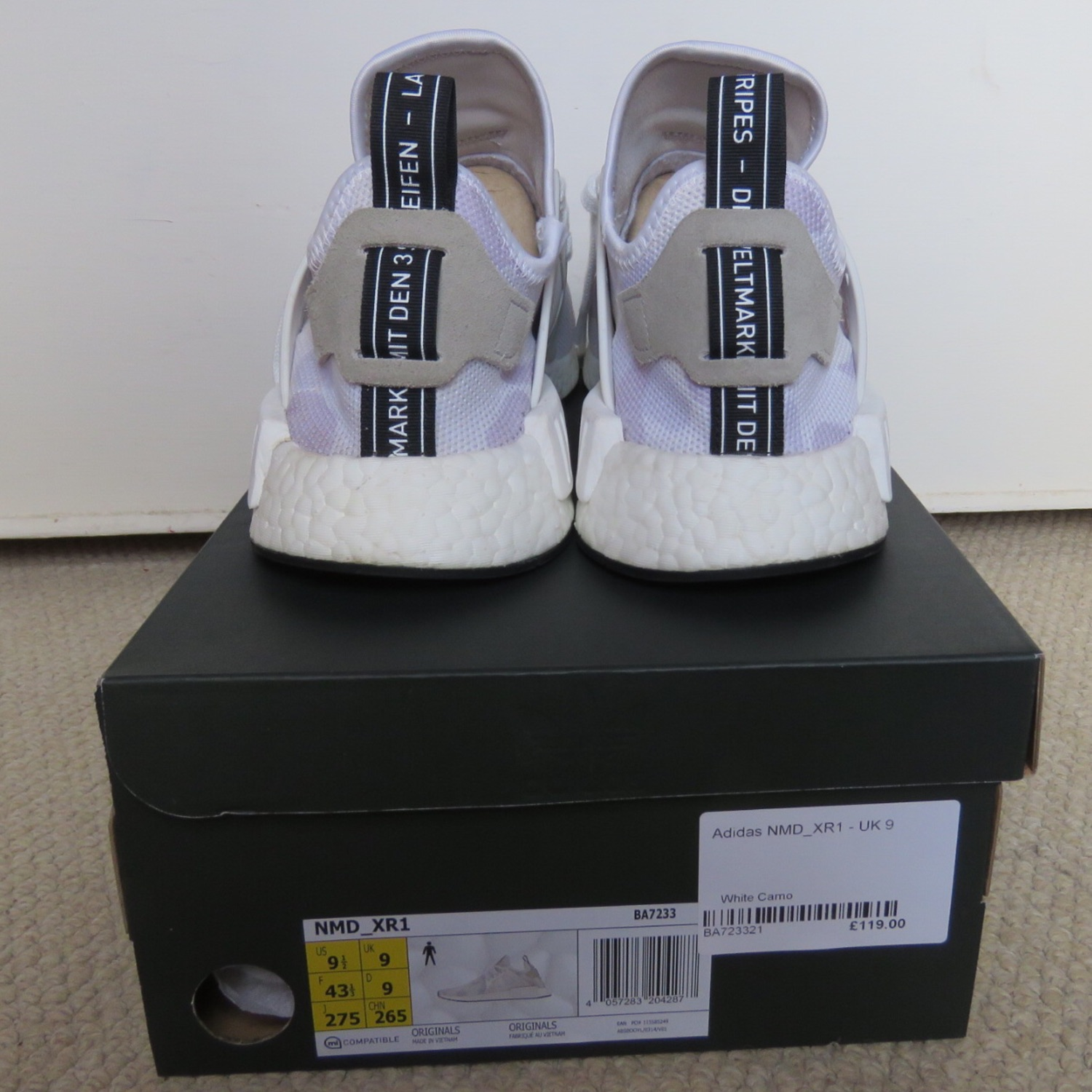 separation shoes 2662c 5a187 Adidas Nmd Xr1 White Duck Camo
