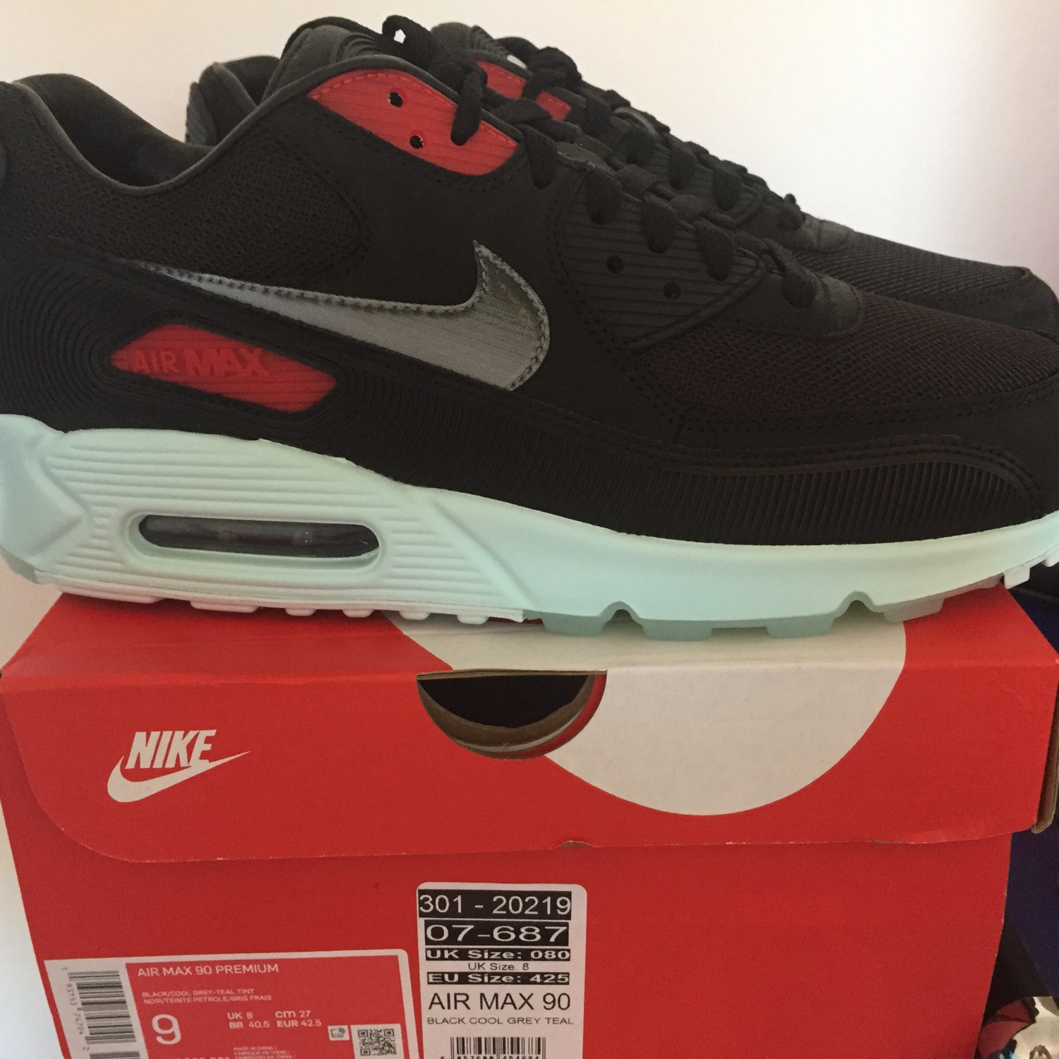 Nike Air Max 90 Premium Vinyl Uk8.5 Us9.5