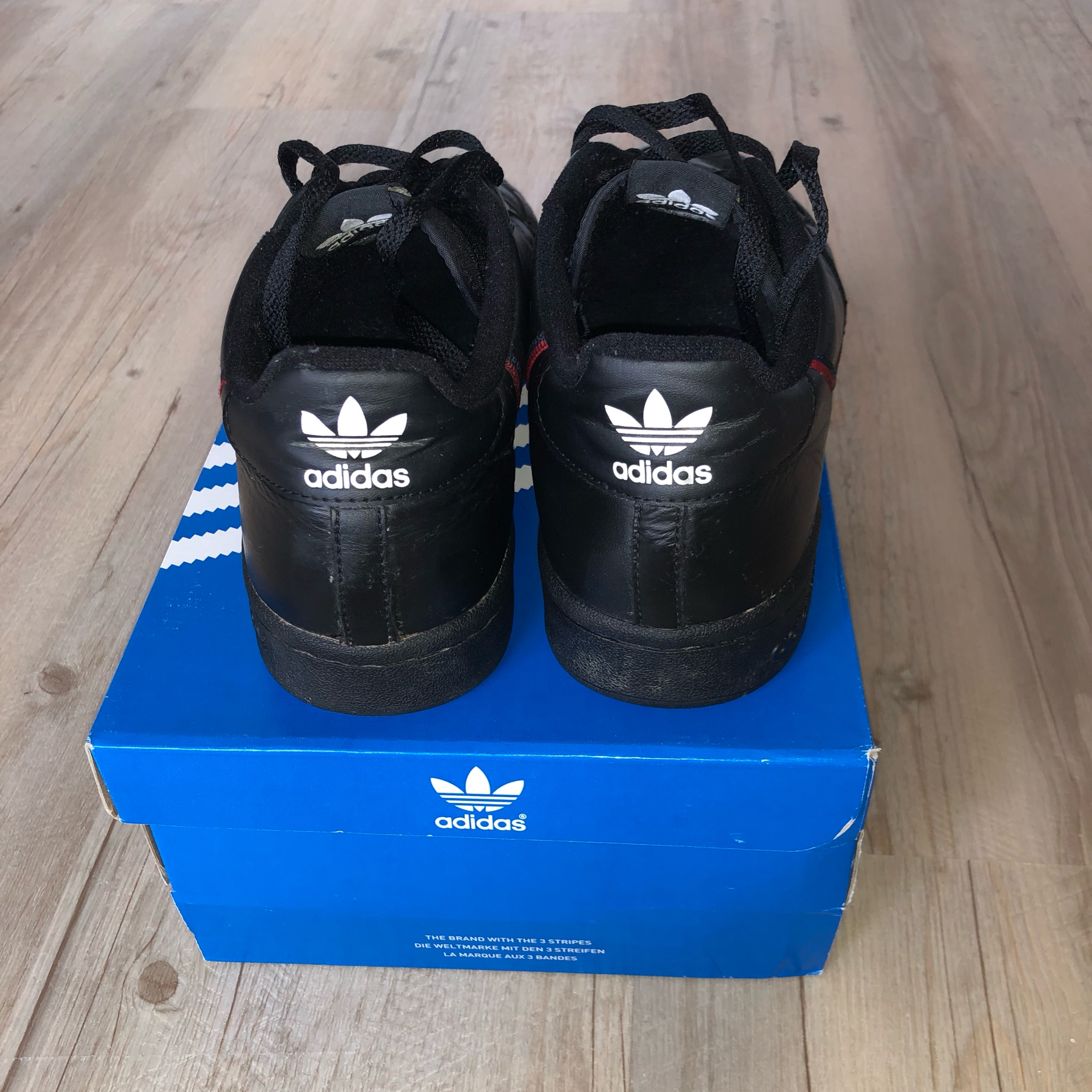 new style 74182 52ade Adidas Continental 80 Black