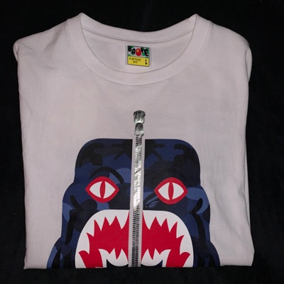 Bape Tee Size: L Condition: 10/10
