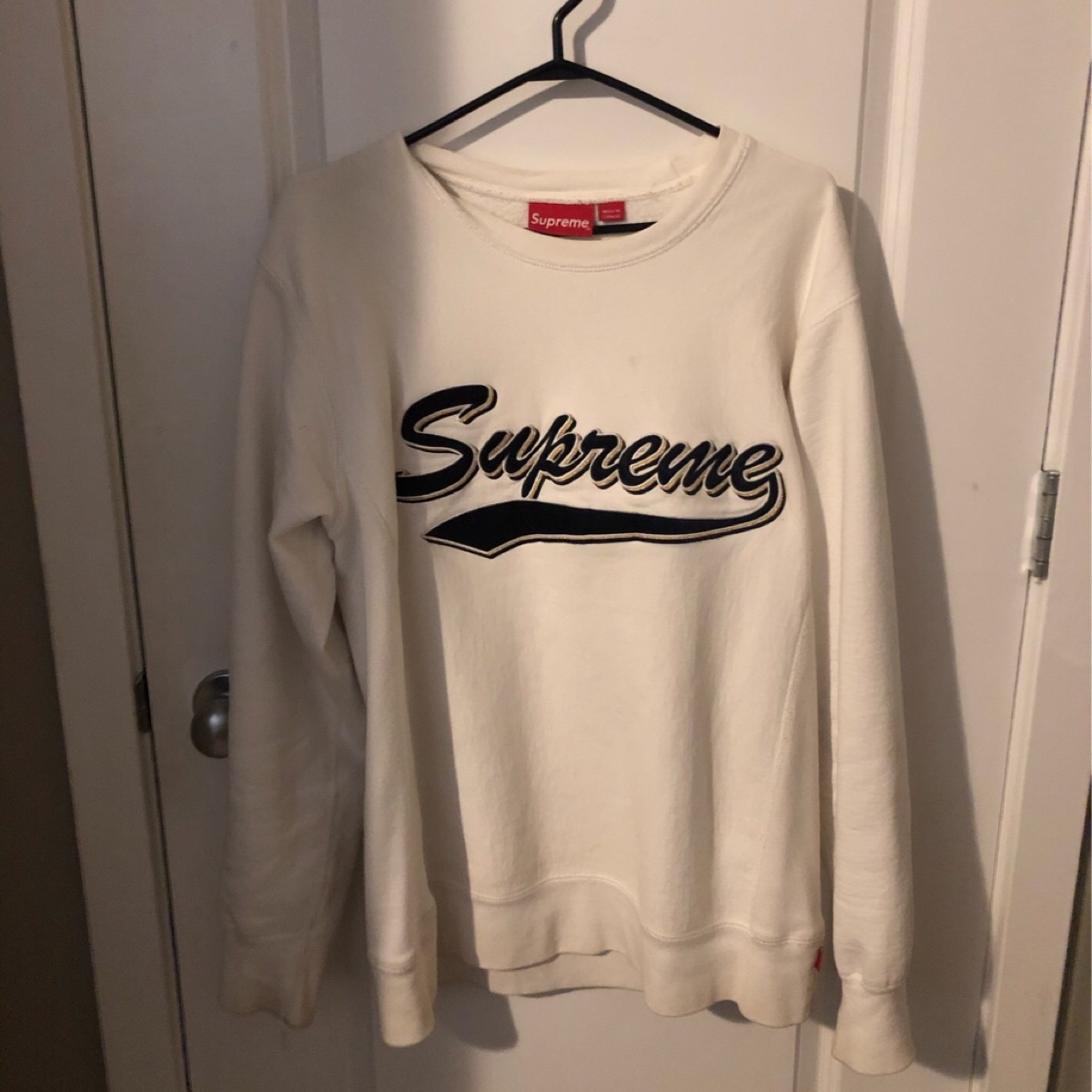 supreme brush script crewneck