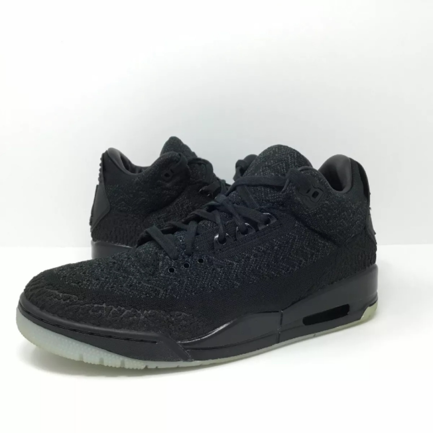 buy popular 358cc 4ecc0 Air Jordan 3 Iii Black Flyknit Size 9.5 Used