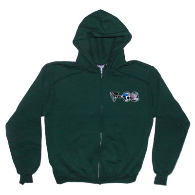 V-98 | Cc Zip Up Hoodie | Forest Green | Champion