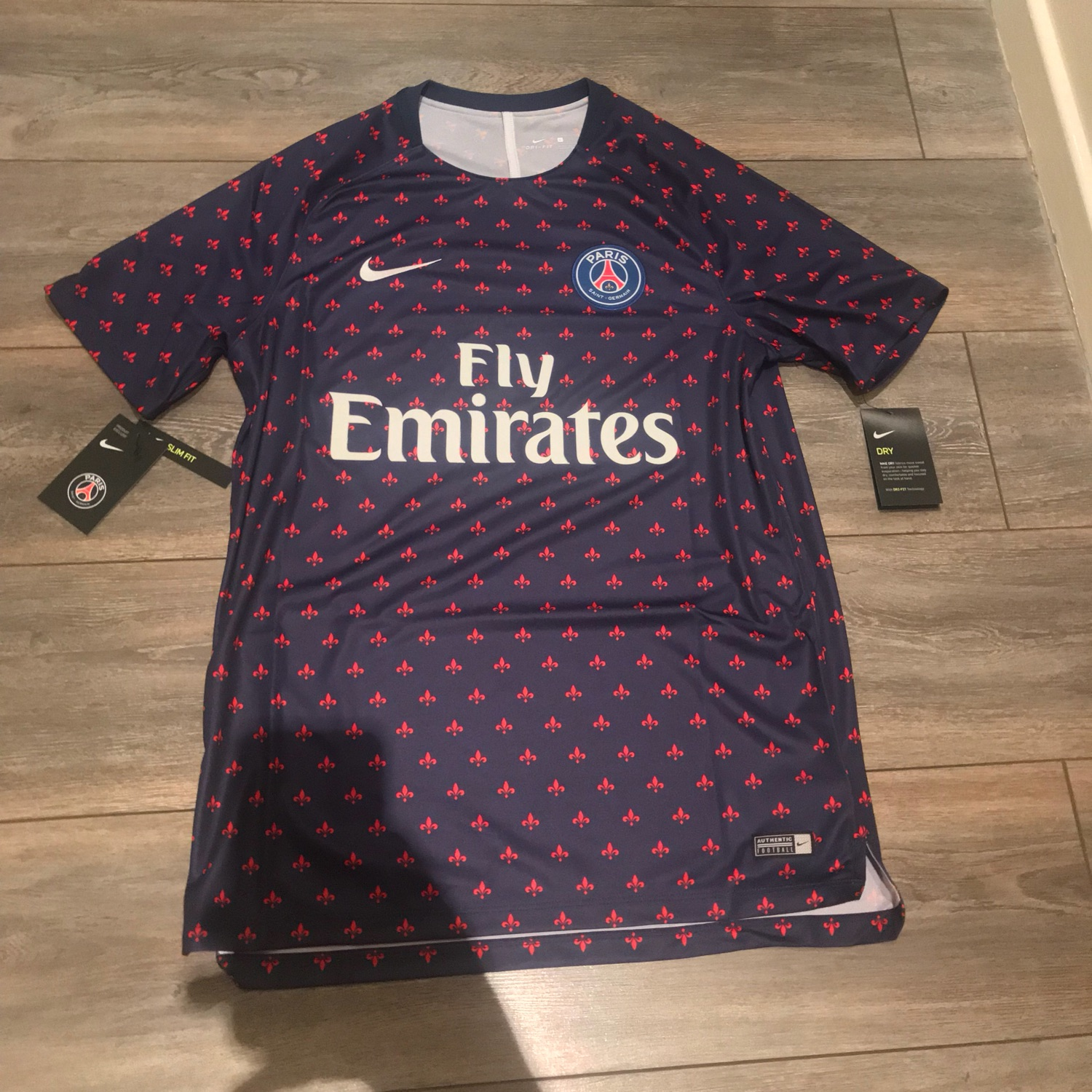 low priced 5c0ea 2c41d Brand New Nike Psg Pre Match Top