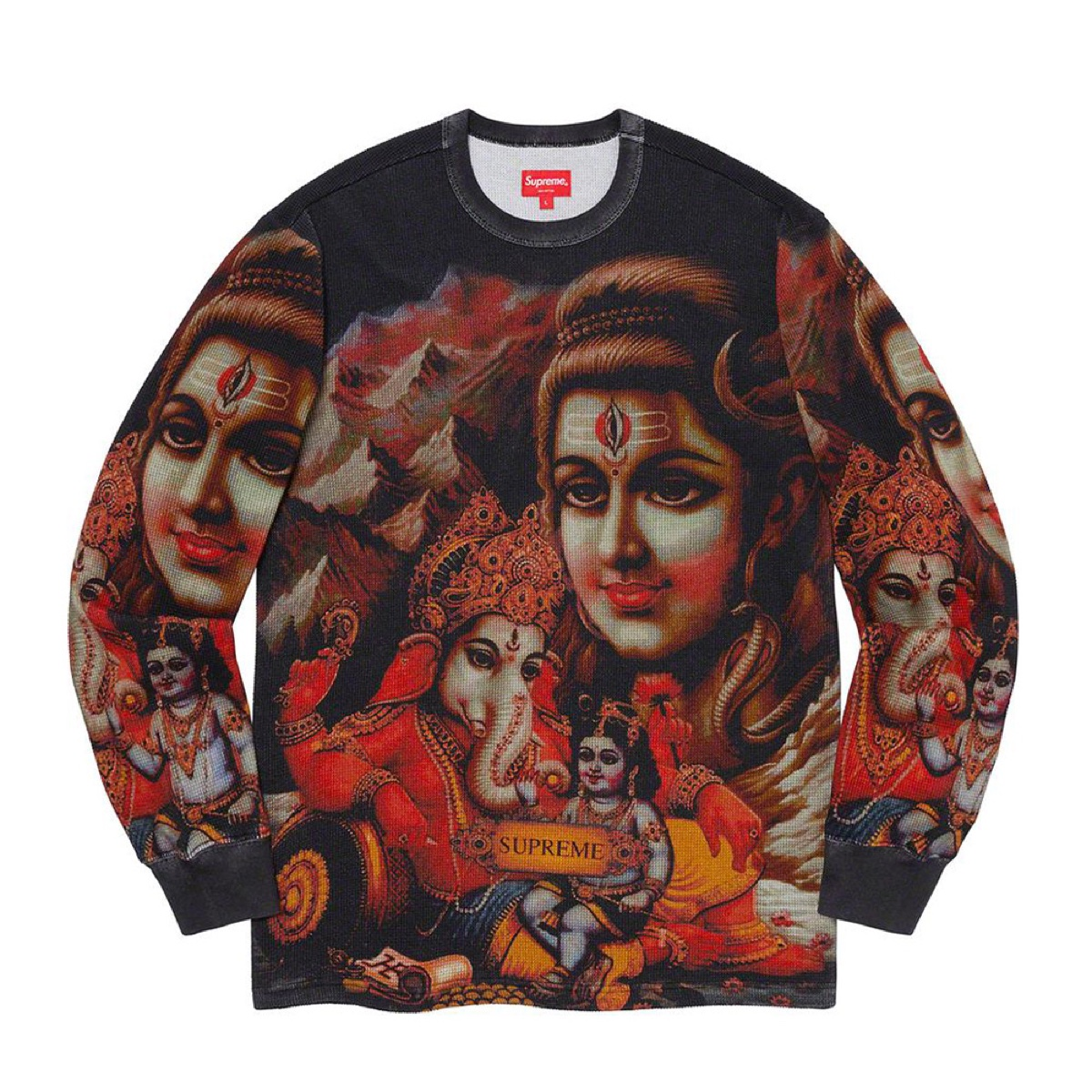 Supreme Ganesh L/S Thermal Black