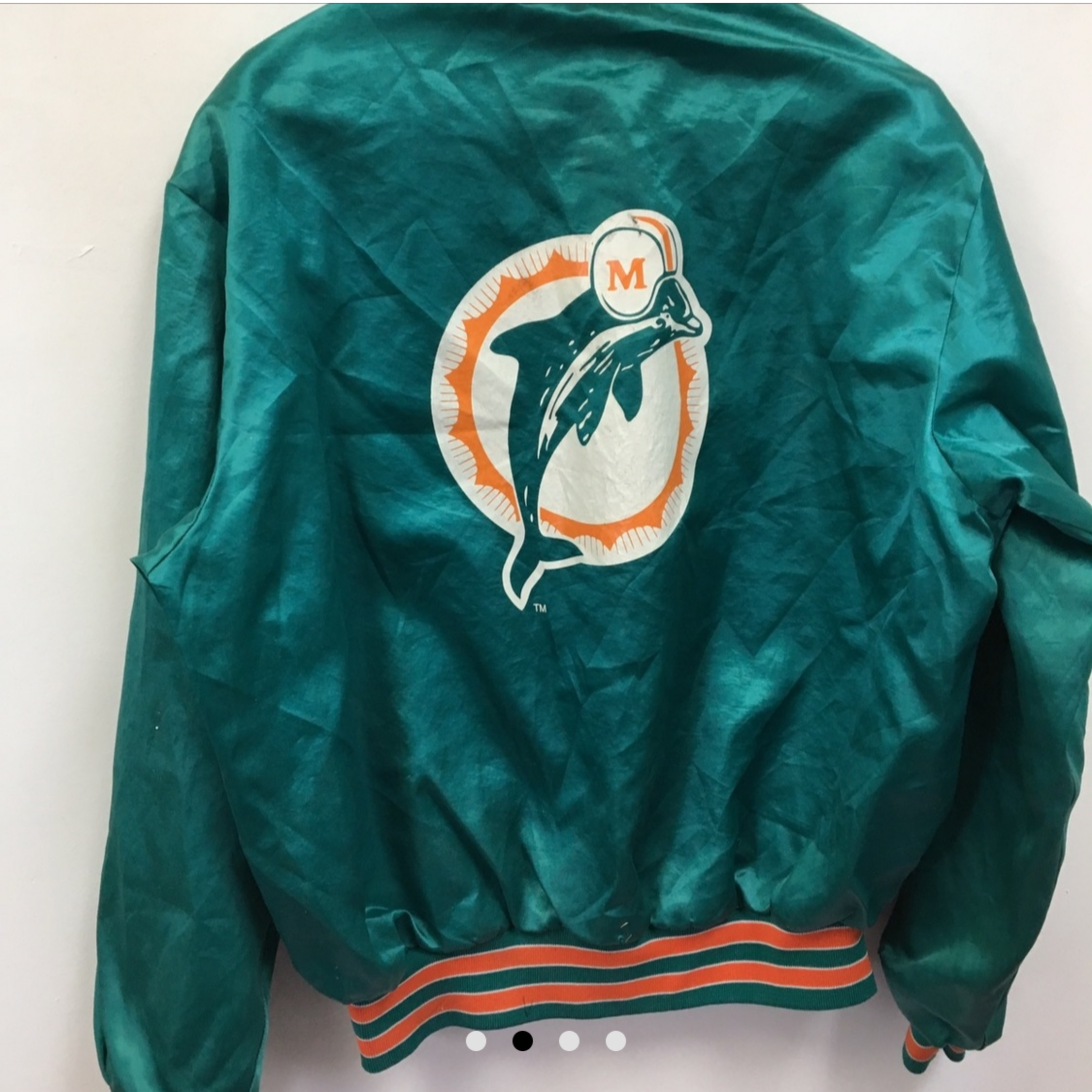 best website bcc31 1df2b Vintage Miami Dolphins Starter Satin Jacket