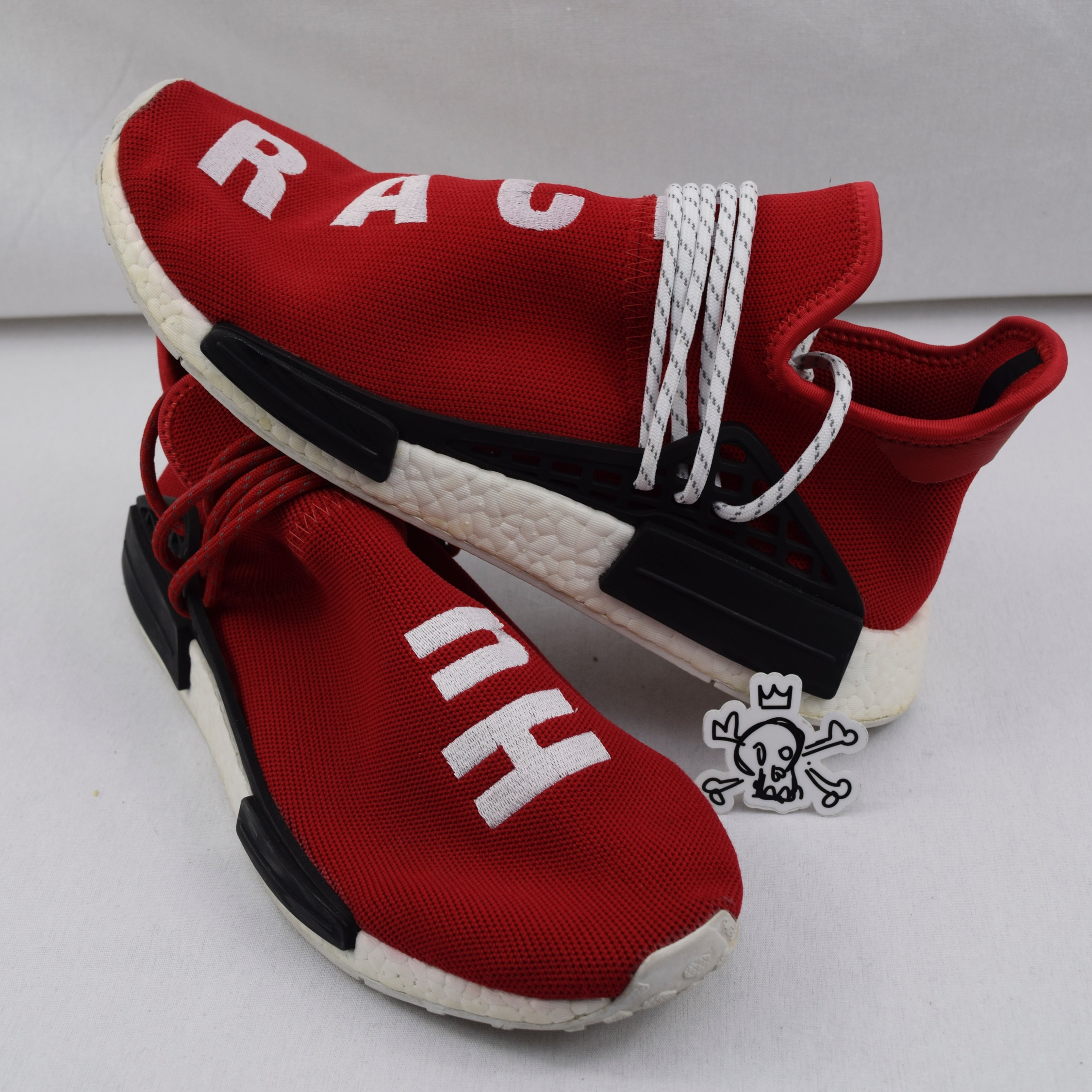 the latest 64213 cb783 Adidas Pharrell Human Race Nmd Red Size 11 Used