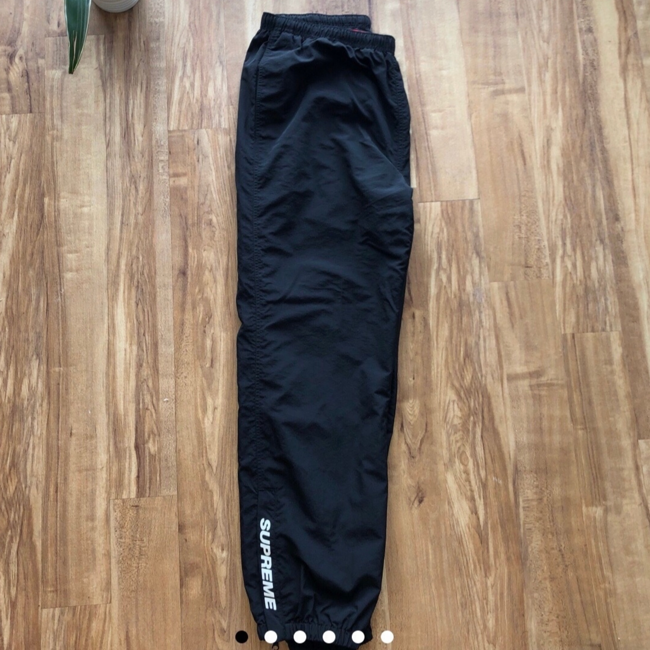 Supreme Fw18 Black Warm Up Track Pants