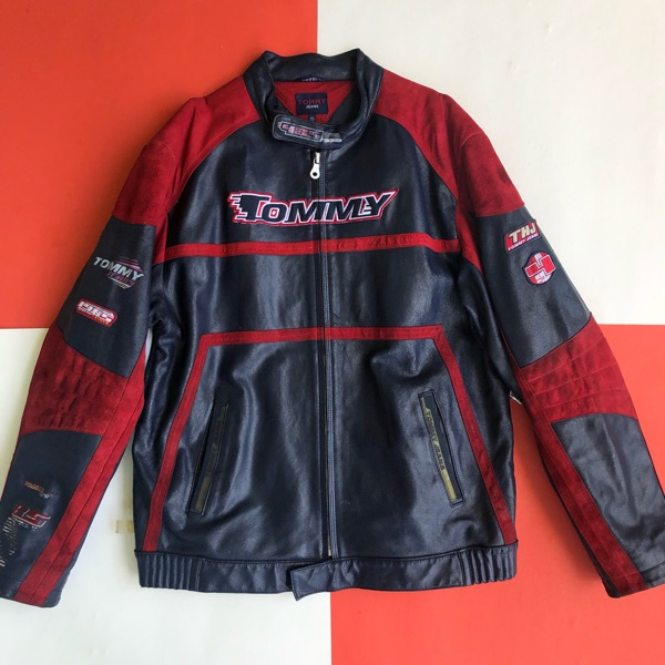 Vintage Tommy Jeans Motorcycle Jacket
