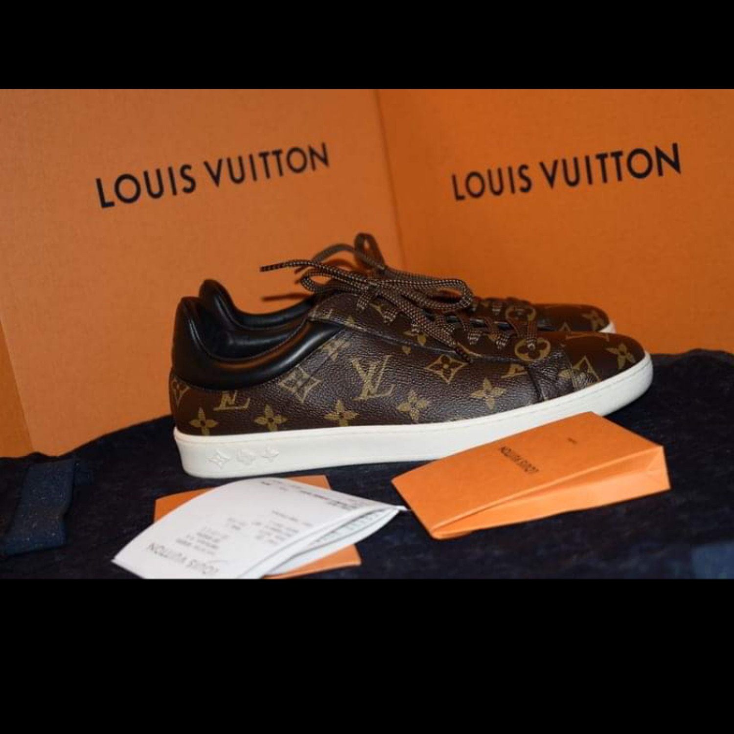 bc60e1020c4 Louis Vuitton Luxembourg Sneakers Size 41