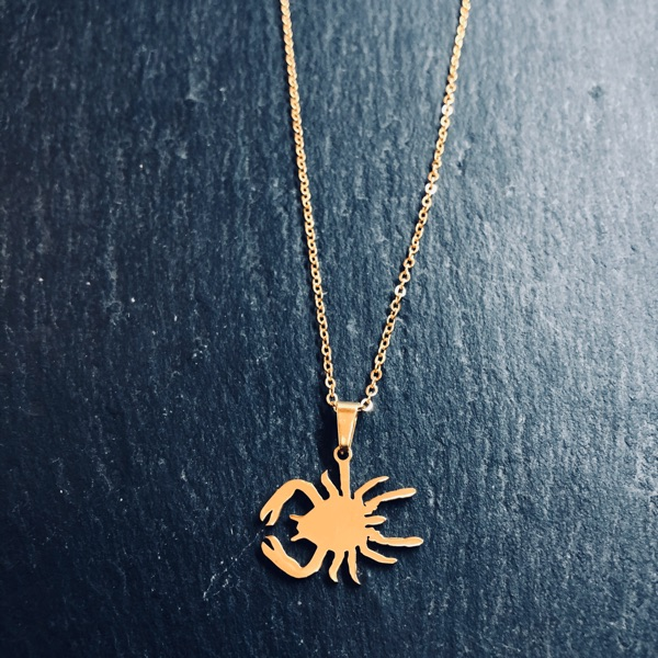 Gold Cancer Pendant Necklace Chain