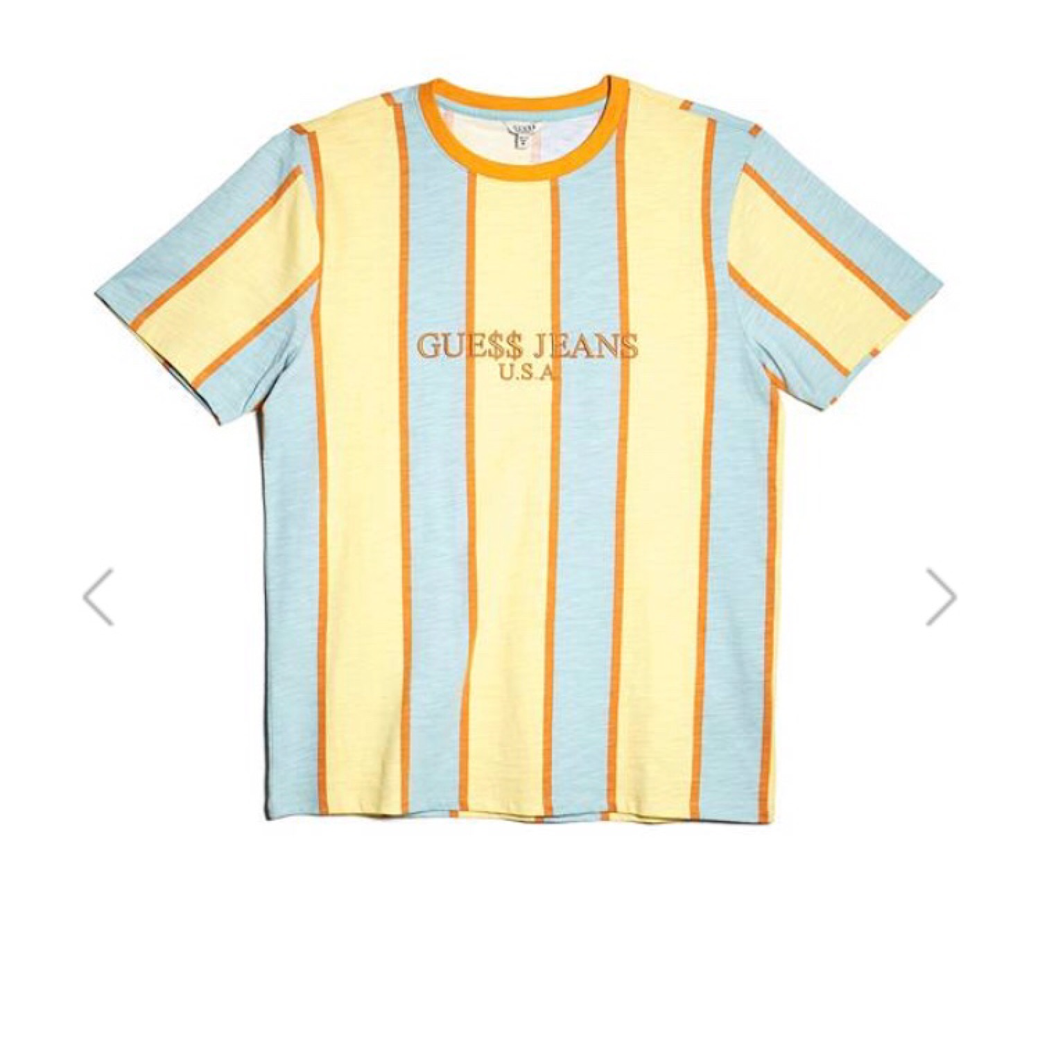 6f4eb6e381cd Guess Jeans Shirt Striped Yellow