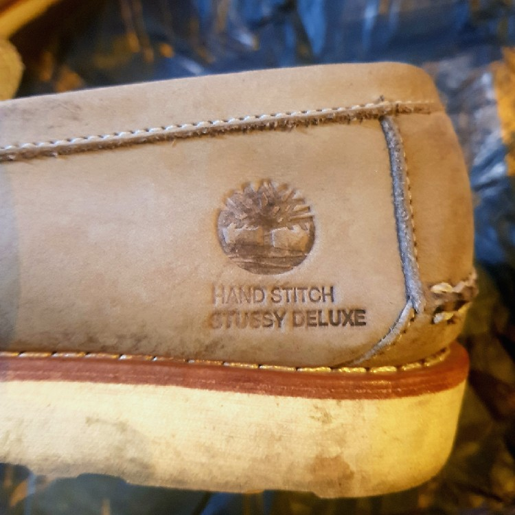Stussy Deluxe X Timberland Loafer Shoes Grey Size 9US