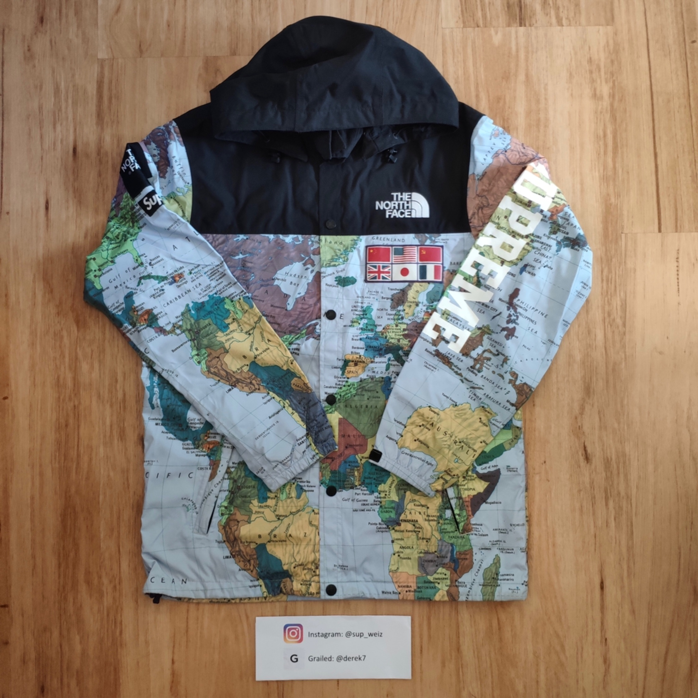 Supreme Tnf Expedition Coaches Map Jacket