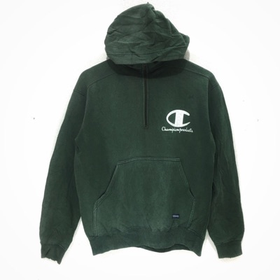 Vintage Champion Product Green Hoodie Reverse