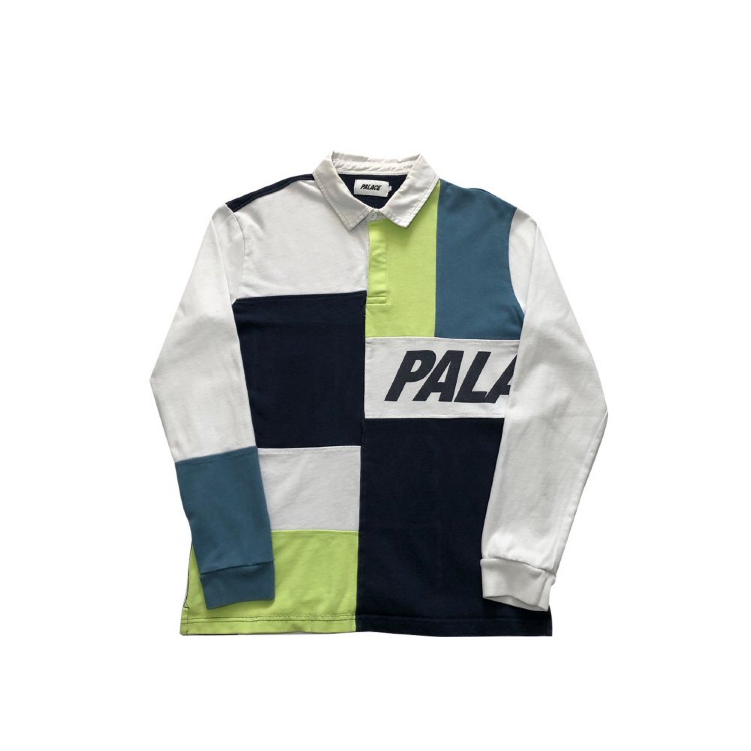 b91b4d21280 Palace Patchwork Rugby Top Size Large