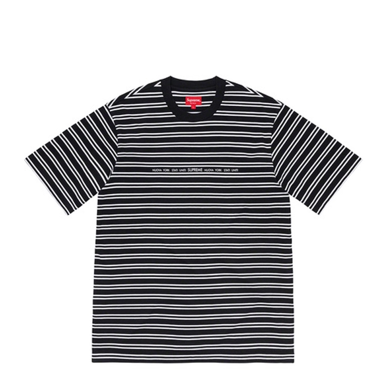 Supreme Stati Uniti Stripe SS Top Black