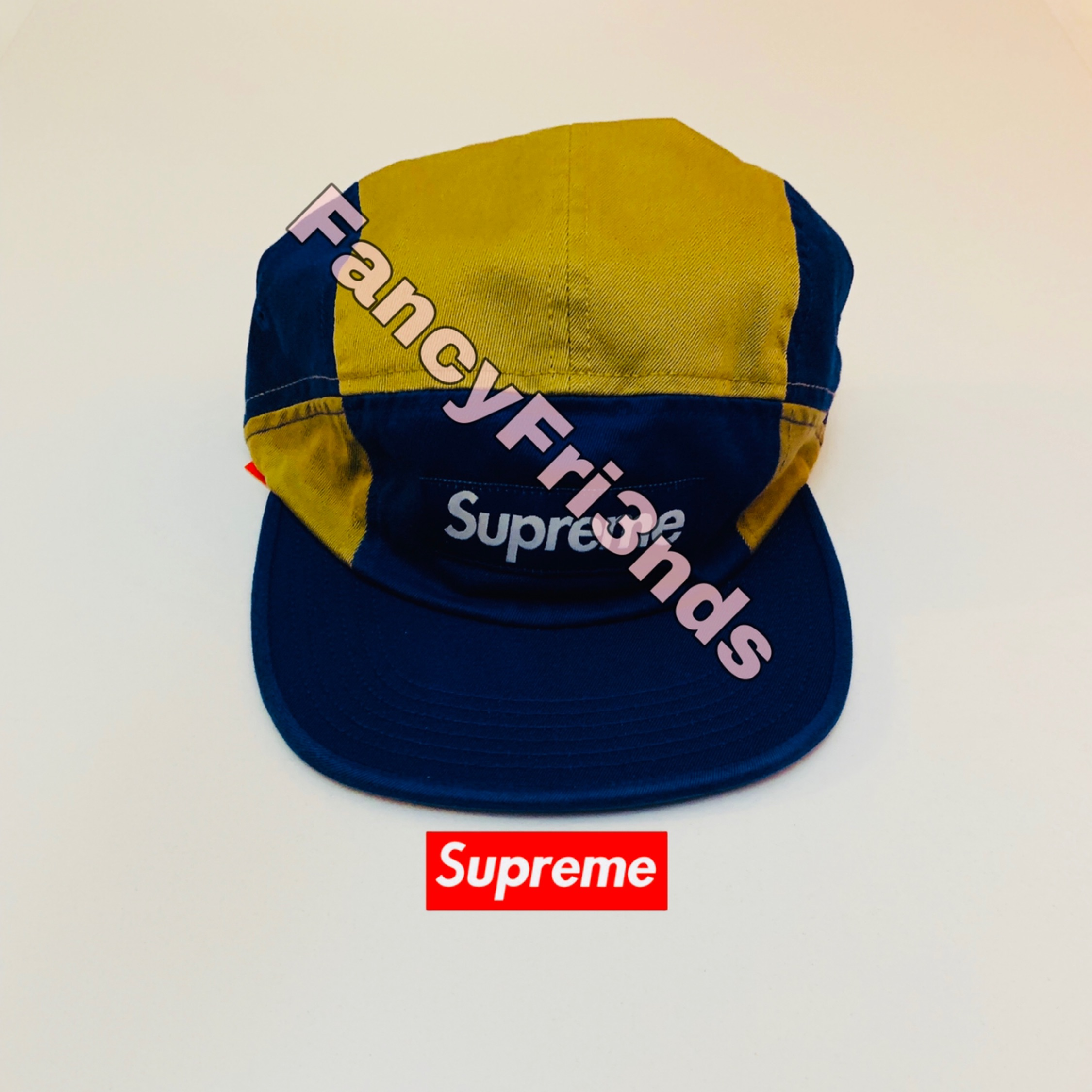 Supreme Contrast Panel Camp Cap