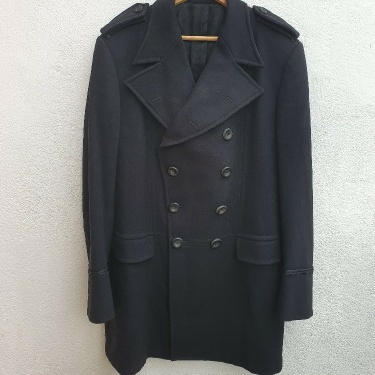 Gucci Mens Trench Jacket Wool Black