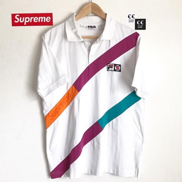 Supreme Fila Polo Shirt Box Logo 2007