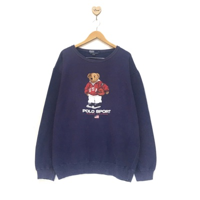 Vintage Polo Sports Bear Rl Crewneck Sweatshirt