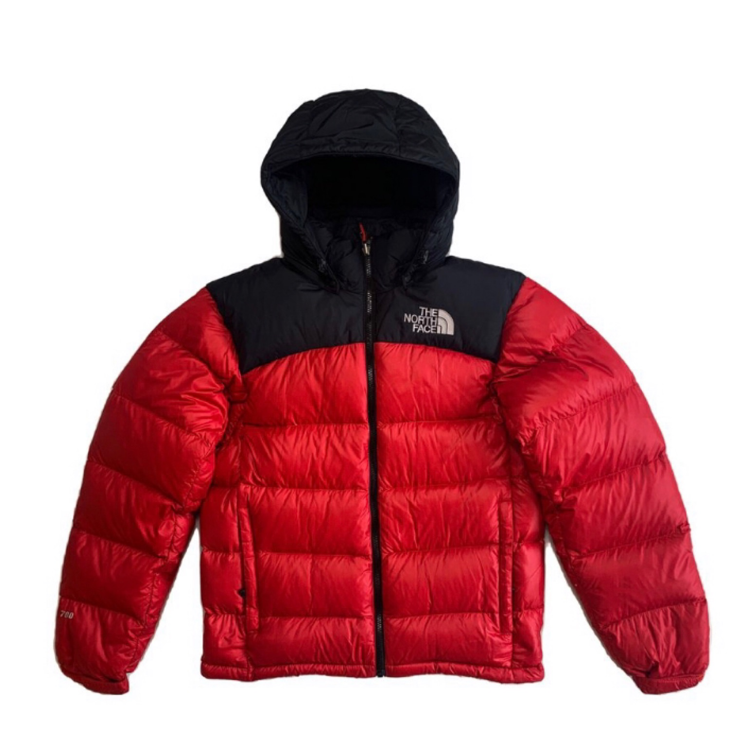 Red North Face Nuptse Puffer Jacket 700