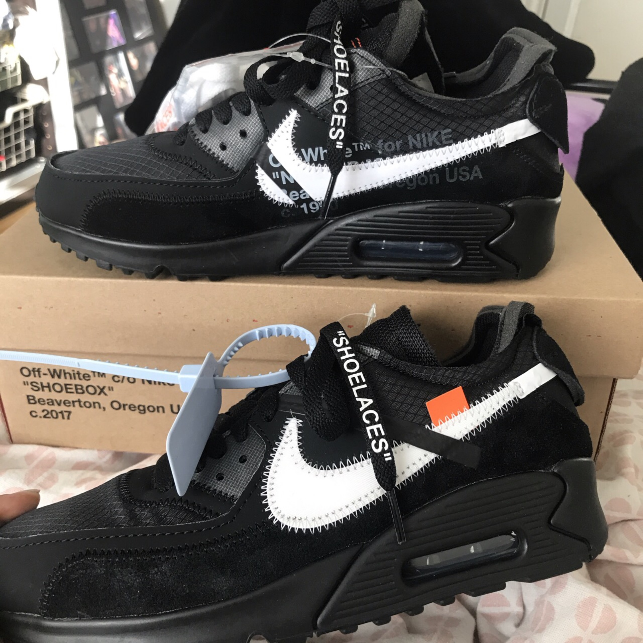 watch ef343 60cc0 Off White X Nike Air Max 90, With Laces And Box