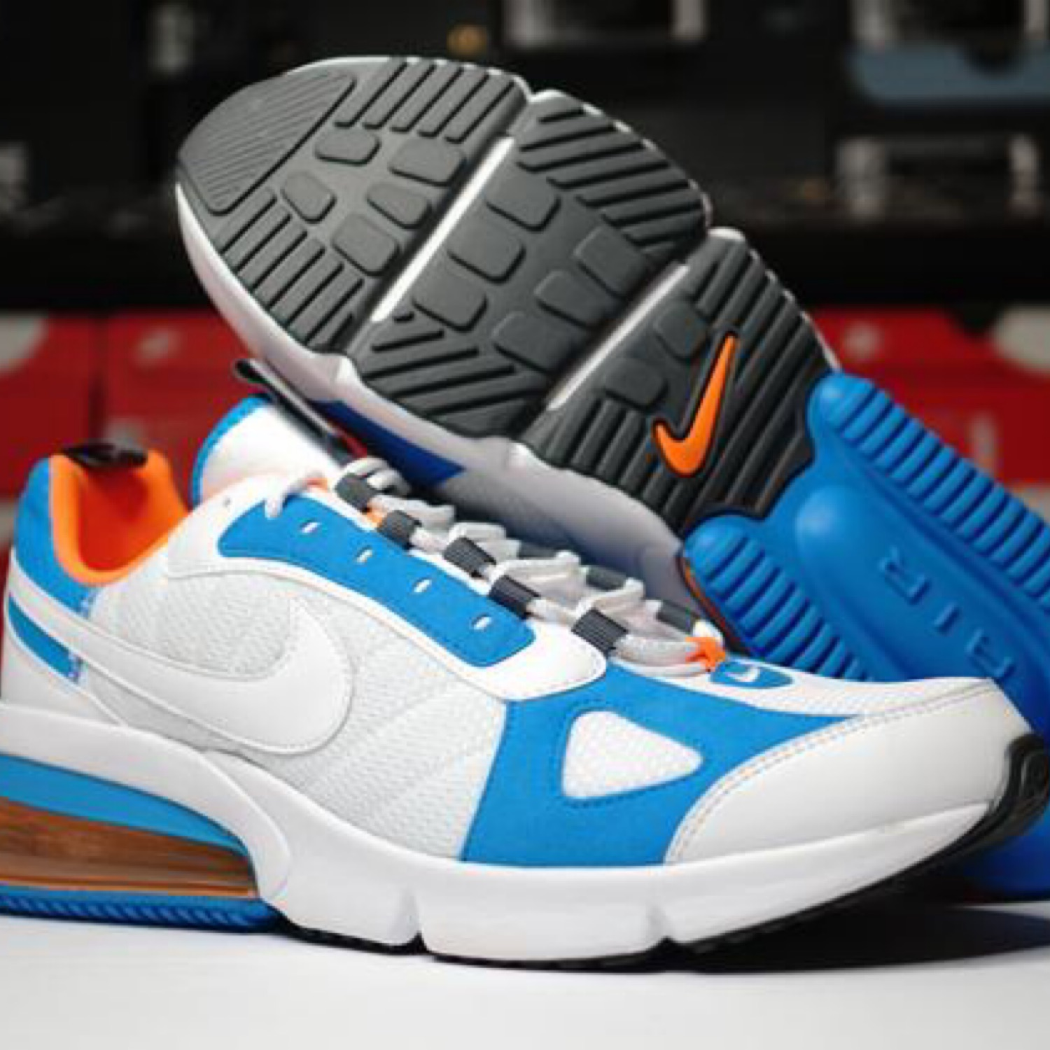 Nike Air Max 270 Futura White Blue Orange 9 5