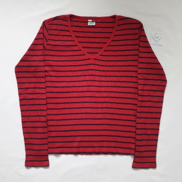 Tommy Hilfiger Red And Blue Striped Longsleeve Top