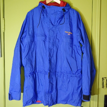 Vintage Polo Sport Ralph Lauren Zip-up Shell Ski Jacket Hooded With Powder Cuff And Armpit Zips Size Medium