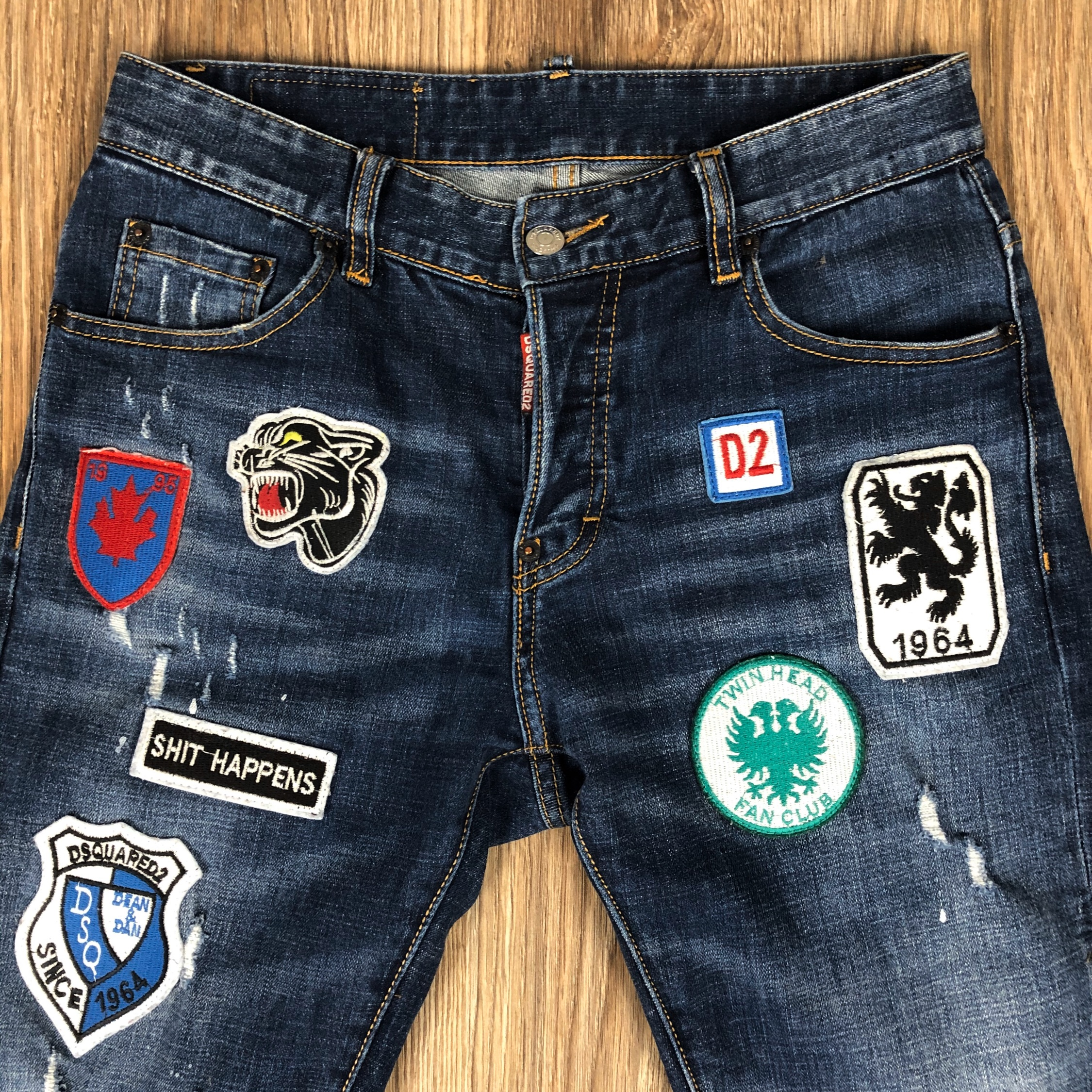 dsquared jean patch