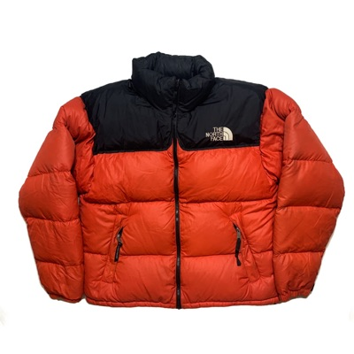 Orange And Red The North Face Nupste Jacket