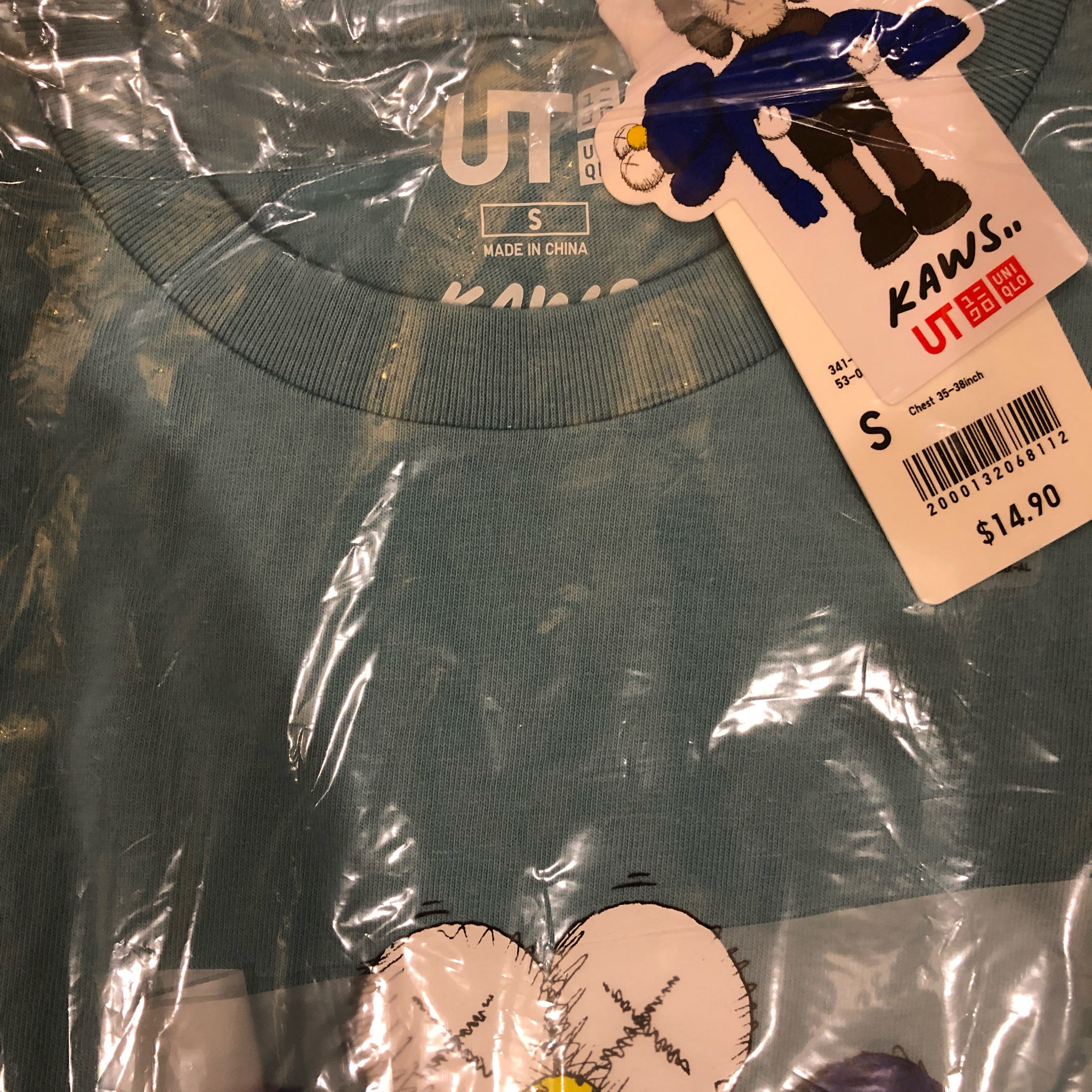 Last Kaws X Uniqlo Collaboration Blue Bff (S)