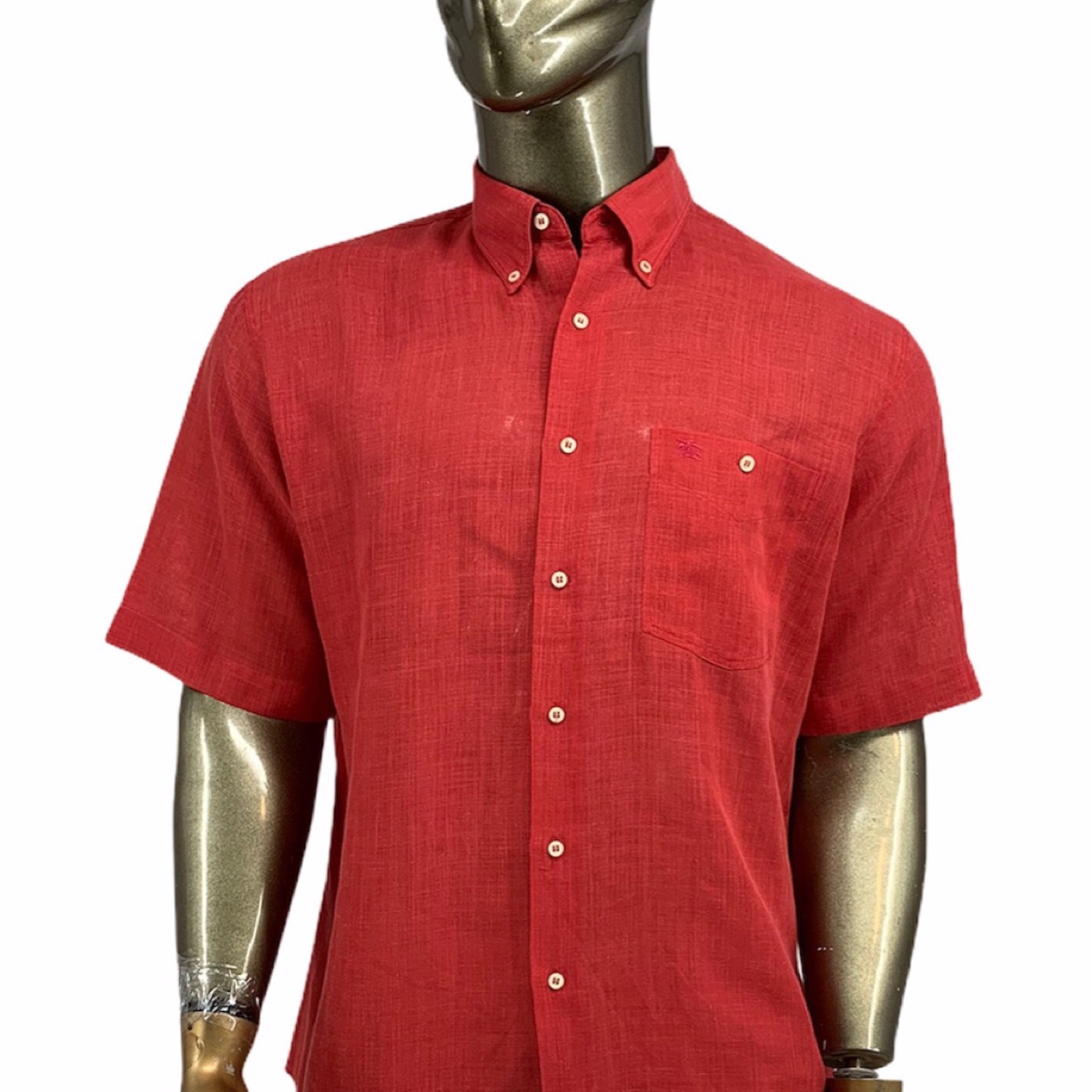 Burberry shirt short sleeve xl red