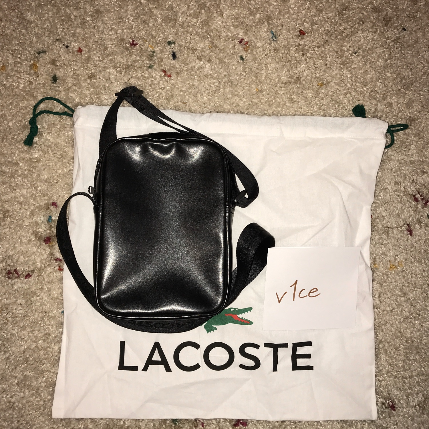 Supreme X Lacoste Ss18 Shoulder Bag Black