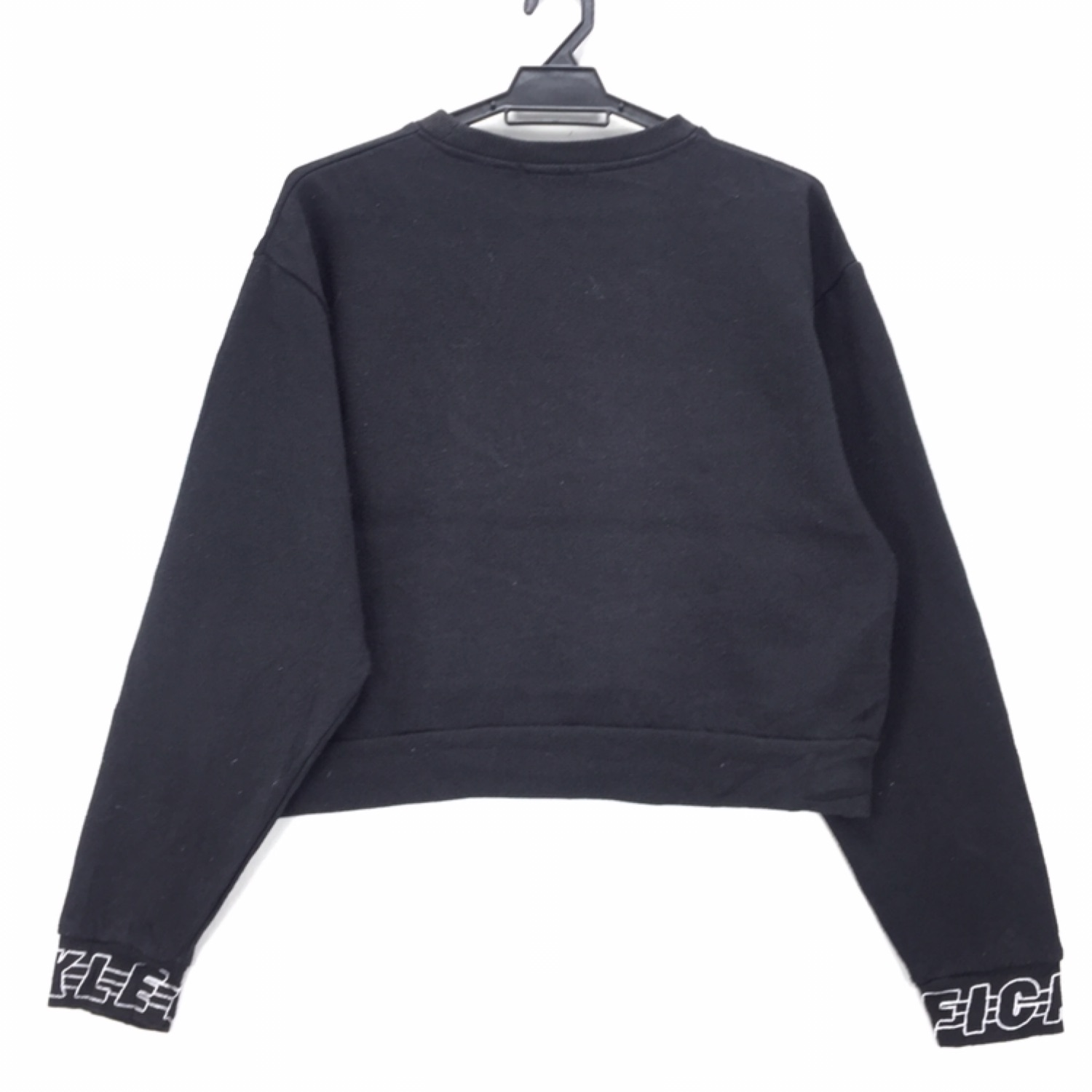 Browny Cropped Hoodies Embroidery Logo Spell Out